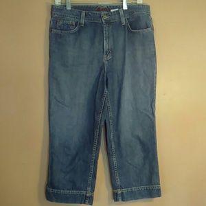 Eddie Bauer 10 Blue Jean Capri Pants